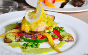 Nutmeg Cuisine and Bar - Red Snapper with Potato Parmigiana