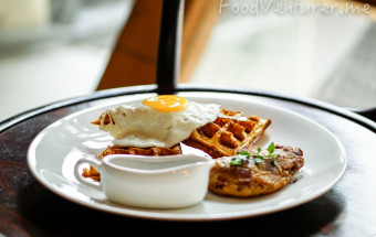 Pan Fried Duck Confit with Waffle - Wilshire