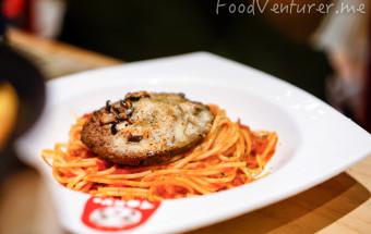 Tangi Tomato Pasta with Mushroom Hamburg Cheese - Tokyo Belly Jakarta