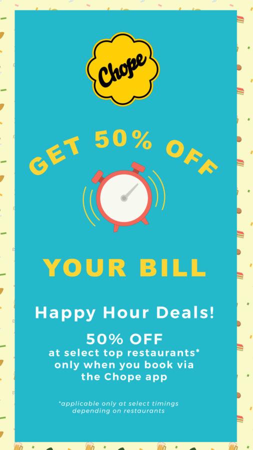 CHOPE APP - Happy Hour Deals